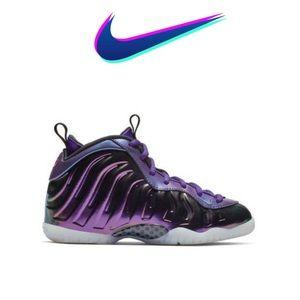 Nike Little Posite One Rush Pink/Neptune Blue 11 C